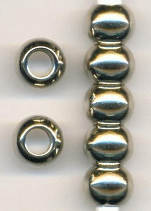 13x10mm Cast Silver Plated Beads