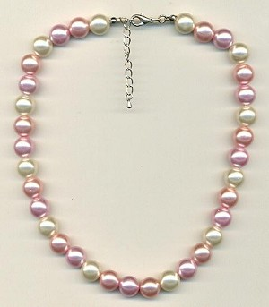 16-18'' Pastel Acrylic Pearl Necklace