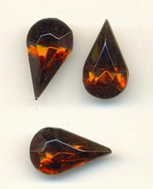 13x7.8mm Smoked Topaz Pear RS