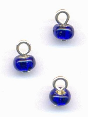 4mm Transparent Blue Seed Bead Drops