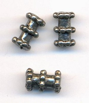8x5mm Antique Silver Metal Beads