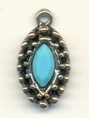 18x10mm AS Turquoise Navette Charms