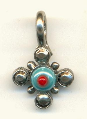 17x11mm AS Red Turquoise Bead Charms