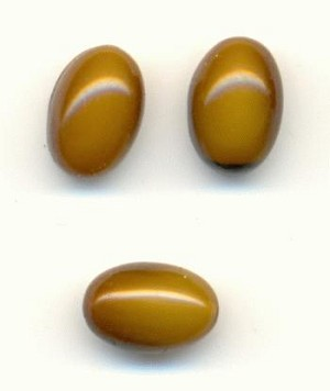 6x4mm Opaque Brown Oval Stones