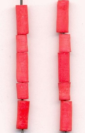 Mixed Lot Coral Dyed Bone Beads