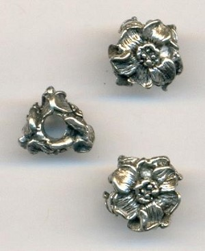 11mm AS Floral Metal Beads
