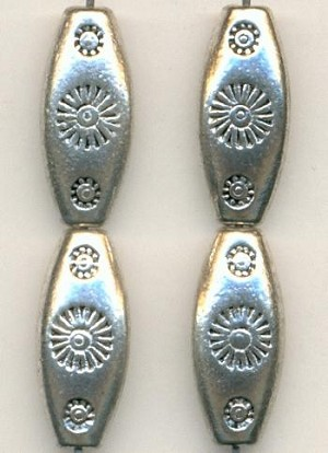 21x9mm Antique Silver Metal Beads