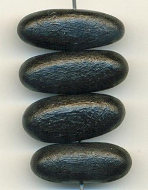 9x23mm Black Wooden Bead