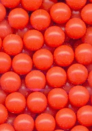 6mm Coraline Plastic No Hole Beads