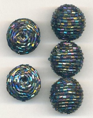 24mm Vitrail Wrapped Beads