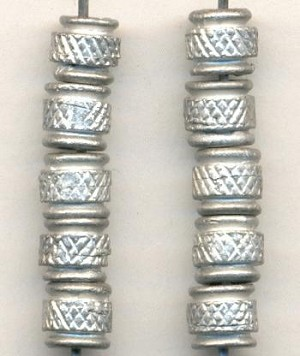 5mm Pewter Silver Metal Beads