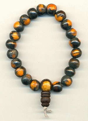 7'' Brown/Orange Bone Bead Mala Bracelets