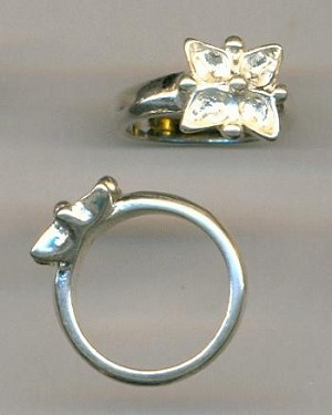 Size 6 SP Ring for 5x3mm Pears