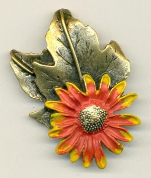 58x41mm AG Sunflower Brooch