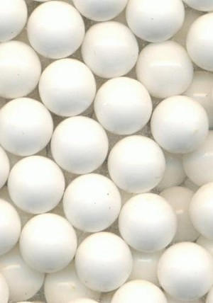 8mm Chalk White Plastic No Hole Beads