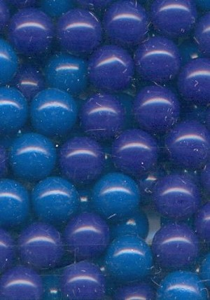 6mm Plastic Mixed Blue No Hole Beads