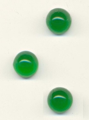 7mm Green Bullet Nose FB Acrylic Stones