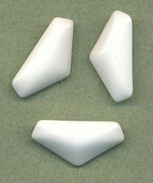 24x12mm Opaque White Truncated Triangle
