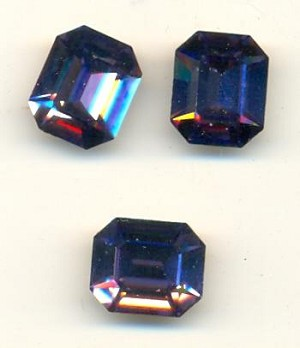 12x10mm Swarovski Tanzanite Octagon RS