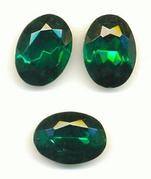 14x10mm Emerald Oval RS