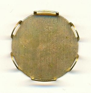 26mm Brass Scallop Edge FB Round Setting