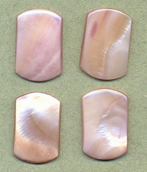 22x17mm Lavender Natural Shell Stone