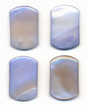 22x17mm Pale Blue Natural Shell Stone