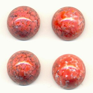 15mm Coral Matrix Cabochons