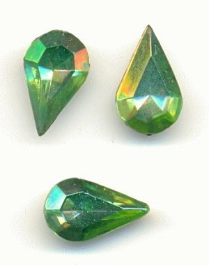 13x7.8mm Peridot AB Pear RS
