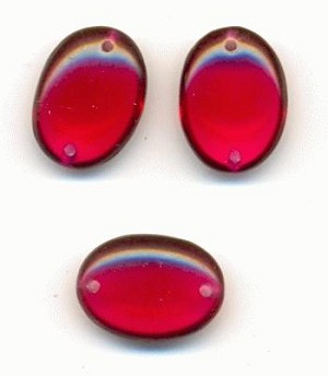 14x10mm Ruby Sew-On Oval Stones