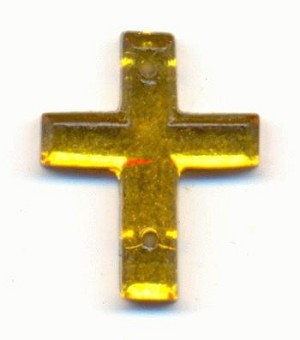 17x14mm Topaz Sew-On Cross RS