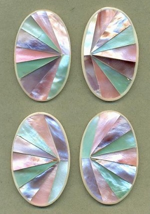 2.75''x1.7'' Dyed Mother-of-Pearl Stones