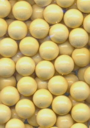 7mm Beige Plastic No Hole Beads