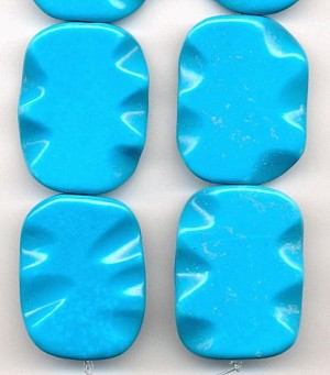 40x28mm Turquoise Howlite Beads