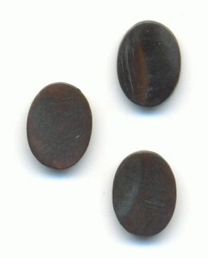 8x6mm Black Abalone Oval Stones