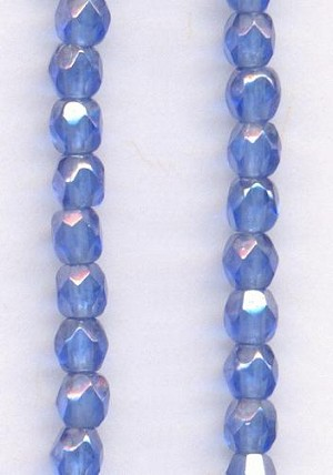 3mm Sapphire Luster Glass Beads