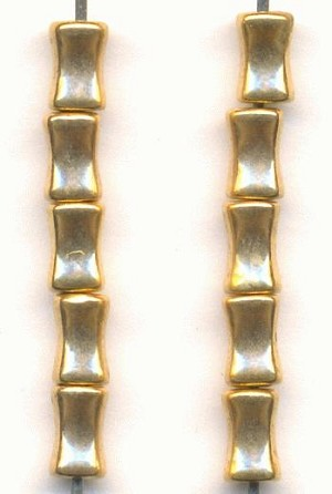 6x4mm Metalized Plastic Gold Tube Beads