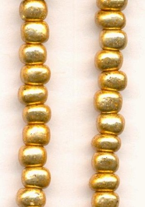 06/0 Gold Glass Seed Beads