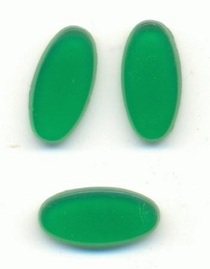 14x7mm Natural Green Oval Stones