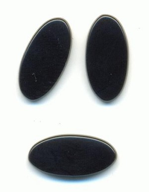 14x7mm Black Onyx Oval Stones