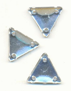 12mm Clear Acrylic Triangle Sew-On RS