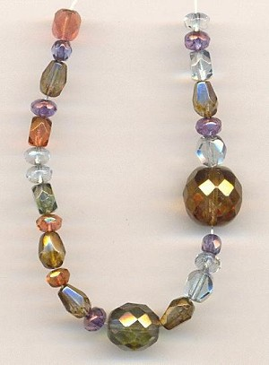Mixed Faceted Glass Beads - Fall Colors