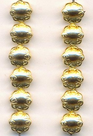 8mm Gold Colored Acrylic Beads