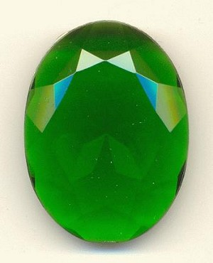 40x30mm Transparent Emerald Acrylic Oval