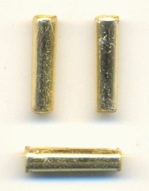 14x4mm Gold Metallic Acrylic Tube Beads