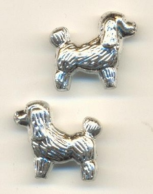 20x23mm Silver MP Dog Beads