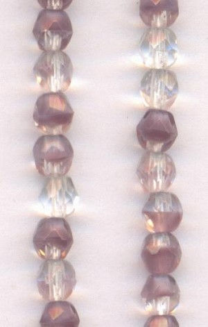 4mm Purple Givre Glass Beads