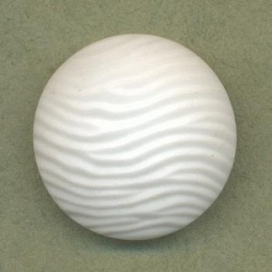24.5mm Opaque Textured White Stone