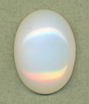 25x18mm White Opal Oval Cabochon