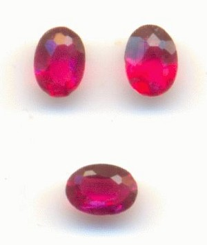 4x3mm Transparent Ruby Oval